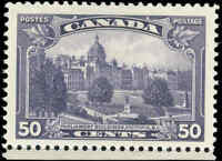 Mint NG Canada 50c F-VF 1935 Scott #226 King George V Pictorial Stamp