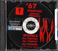 1967 Pontiac Shop and Body Manual CD LeMans Tempest GTO Firebird Bonneville Exec