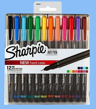 Sharpie(R) Pens With Hard Case, Fine Point, Assorted Ink Colors, Pack Fineliner