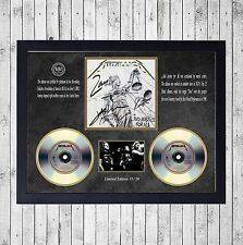 METALLICA AND JUSTICE FOR CUADRO CON GOLD O PLATINUM CD EDICION LIMITADA. FRAMED
