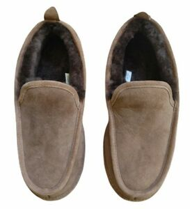 Vintage LL Bean Suade Men's Slippers Size 8 Brown Lined Rare NWOT