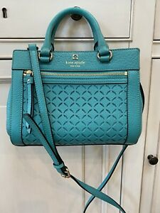 Kate Spade Turquoise Romy Perri Lane Satchel Shoulder Bag Crossbody Purse Guc