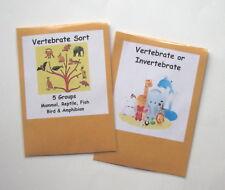 2 Teacher Made Science Centers Resource Games Vertebrate & Invertebrate Sort