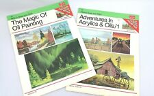 Walter Foster Art Books Vintage Set How to Draw Paint Oil & Advent Acrylic Oil