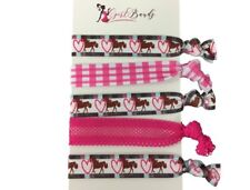Horse Hair Accessories - Horse , Cowgirl Hair Ties - Perfect Gift for Equestrian