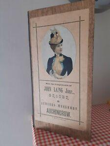 1891 CALENDAR / SHOWCARD JOHN LAING GROCER AUCHINCROW SCOTTISH BORDERS