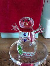 Partylite Sparkle Lite Crystal Snowman Tealight Holder ~ Rare, Retired, Htf, New
