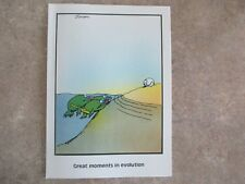"Vintage ""The Far Side"" 1982 Blank Inside ""Frog Evolution of Baseball"" New"