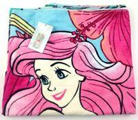 "Disney Store The Little Mermaid Ariel Cotton Beach Towel Size 29"" x 59""  NWT"