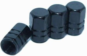 4pcs Universal Tire Wheel Dust Caps Air Stem Valve Black For Car Truck Van Sport