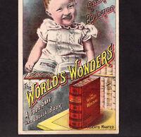 The World's Wonders c 1884 Arctic Tropical Polar Exploration Advertising Card