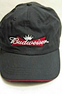 Budweiser Beer Hat Black Cap Embroidery Adjustable