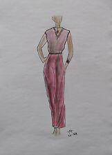 ORIGINAL MODEZEICHNUNG Modeskizze Damen fashion sketches 20-368