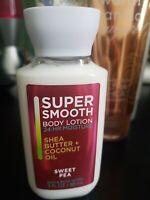 BATH & BODY WORKS NEW SUPER SMOOTH SHEA BUTTER+COCONUT OIL BODY LOTION 3 FL OZ