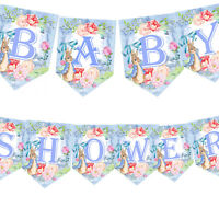 Baby Shower Bunting,Peter Rabbit bunting, Baby Garland, Baby Shower Banner Party