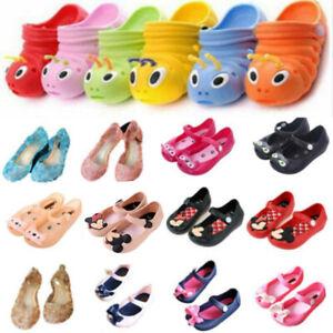 Toddler Kids Boy Girl Slip On Summer Sandals Beach Flat Slipper Jelly Shoes Size