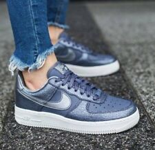 Nike AF1 Air Force 1 '07 PRM Silver Grey White Leather Trainers Men Women UK 7.5