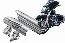 For Harley Glide Road king 00-2013 Fork Lower Leg Deflectors Shield Cover Chrome