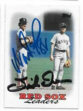 WADE BOGGS & SPIKE OWEN 1988 TOPPS AUTOGRAPHED SIGNED # 21 RED SOX LEADERS