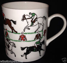 ASCOT JENNIFER TUCKEY HORSES MUG 12 OZ DIFFERENT RACEHORSES & RIDERS