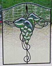 """Bleiverglasung Einzelstück Facetten- Fensterbild """"Weintraube"""" in Tiffany"""