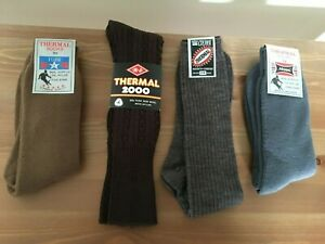 4 x Pairs Of Men's Vintage Thermal Socks-BNWT