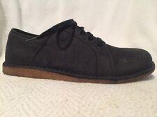 Keen Sierra Lace Black Pebble Leather Casual Chukka Shoes Women's 9.5 Blucher