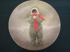 WINTER ANGEL collector plate DONALD ZOLAN Snow WONDER OF CHILDHOOD #3 children