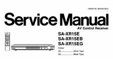 NATIONAL SA-XR15E SA-XR15EB SA-XR15EG AV CONTROL RECEIVER SERVICE MANUAL BOOK