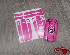 Rosa Glitter Gloss PORTACHIAVI Wrap Copertura Overlay BMW 1 3 5 SERIE 6 z4 x1 3 x5 x6 M