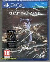Middle Earth Shadow Of War (inc. FORGE YOUR ARMY)  'New & Sealed'   *PS4(Four)*