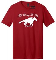 Talk Derby To Me Mens V-Neck T Shirt Horse Race Funny Unisex Kentucky Derby Hip