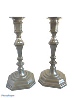 Pair of Ornate Antique Silver Plated Rococo Georgian Style Candlesticks