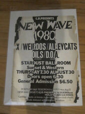 X Weirdos Dils Alleycats DOA 1980 concert poster Hollywood