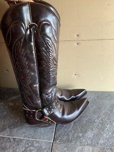 7167 Sendra Cowboy Boots High Shaft Mad Dog Tang Braun Seam Stitched Shoes N21