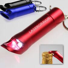 10 Stück LED Taschenlampe & Schlüsselanhänger mit Gravur Lasergravur Namen