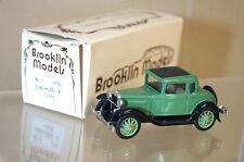 Brooklin Modèles 5 1930 Ford Modèle A Coupe Vert Noir Très Bon État en Boîte Mq
