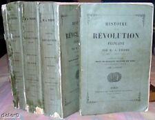 HISTOIRE DE LA REVOLUTION FRANCAISE complet 4 volumes par Adolphe Thiers