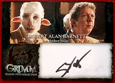 GRIMM - ROBERT ALAN BARNETT (BLACK INK) (Matthew Jessen) - AUTOGRAPH CARD (RBA)