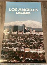 "Vintage US AIR Poster Los Angles 22"" x 34 1/2"""