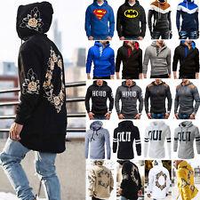 Men Hoodies Hood Coat Jacket Sweater Sweatshirt Jumper Top Coats Outwear Fashion