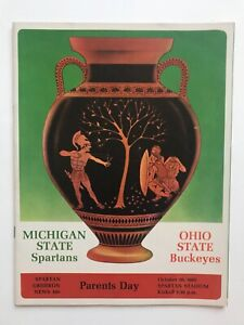 1965,1966 Michigan State Football 5 game Programs