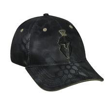 KRYPTEK  Tactical Camo Typhon Black w/Helmet Logo Hunting Target Shooting Hat