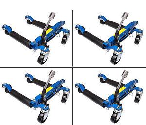 4x Rangierhilfe Positionierer hydraulischer Rangierheber Wagenheber Autoheber