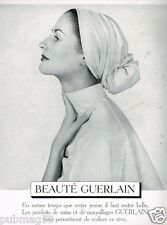 A- Publicité Advertising 1953 Cosmétique Maquillage Guerlain
