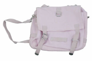 HAVERSACK Canvas BAG SHOULDER GERMAN ARMY BREAD BAG STYLE 80s PINK ipad Size NEW