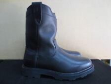 "Men's 11"" Lacrosse Black Station Slip On Leather Work Boot Size 11 Wide #911055"
