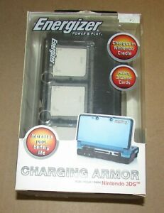 Energizer Power & Play Charging Armor for Nintendo 3DS Brand New