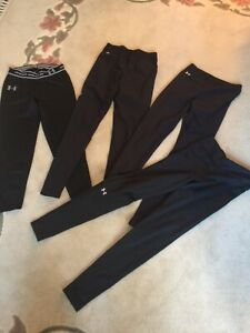 Youth Small Medium Under Armour Leggings Workout Pants Cold Gear Boys Girls LOT