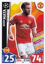 Juan Mata  2017-18 Topps Champions League Match Attax,Sammelkarte,#158